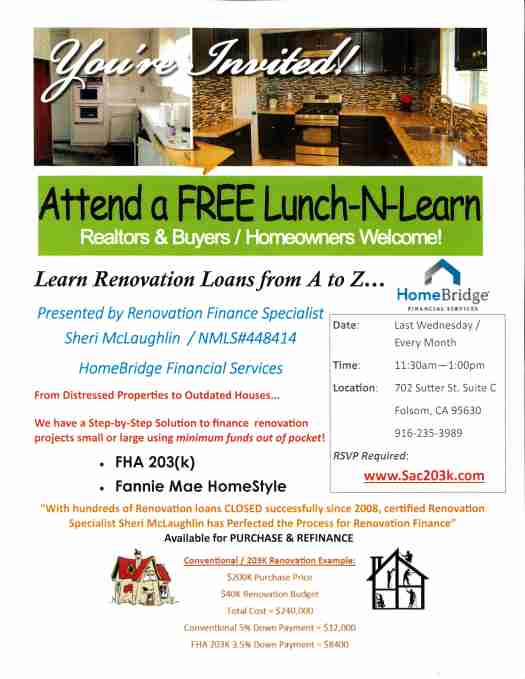 Renovation Lunch and Learn Invite